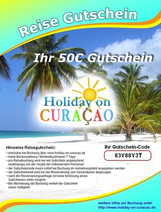 50 € Reisegutschein für Urlaub auf Curacao/ Niederländische Antillen in der Karibik